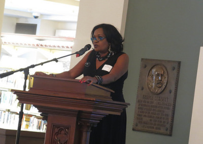 KC Library Deputy Director Cheptoo Kositany-Buckner at the Digital Inclusion Summit 2014