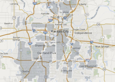 Google Fiber coverage map, Nov. 2014