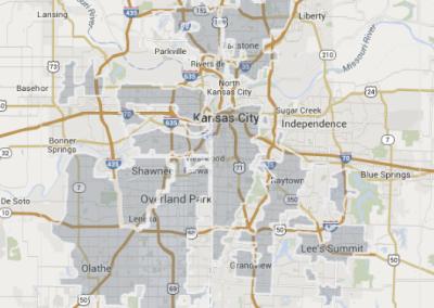 Google Fiber coverage map, Nov. 2014