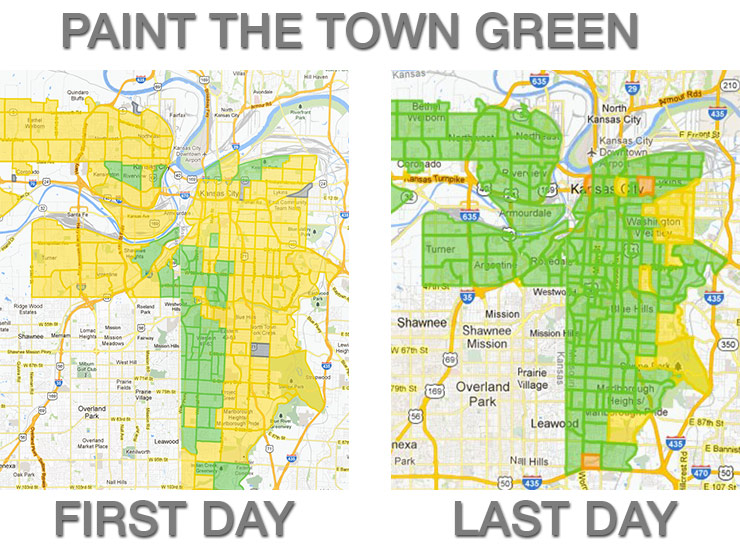 Google Fiber's Fiberhood map: before and after