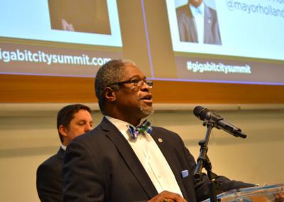 Mayor Sly James of KCMO  at the Gigabit City Summit.