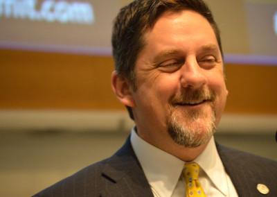Mayor Mark Holland of Kansas City Kansas  at the Gigabit City Summit.