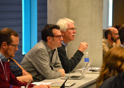 Nate Hill of Chattanoog and Bill Wallace of US Ignite look on attentively at the Gigabit City Summit.