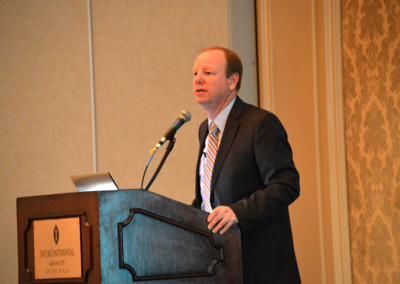 Joe Reardon delivers the closing keynote of the Gigabit City Summit.