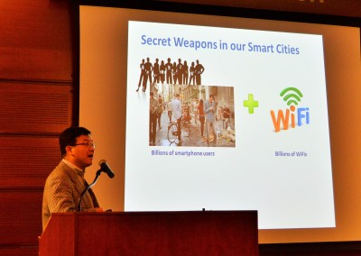 Sejun Song of the UMKC School of Computing and Engineering, talks about Wifi Amber, an app that takes Amber Alert to the world of public wifi and ubiquitous mobile devices.