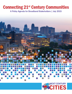 Kansas City was cited as an exemplar in Next Century Cities broadband agenda.