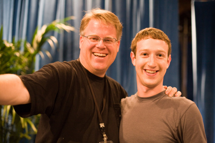 Robert Scoble with sidekick Mark Zuckerberg